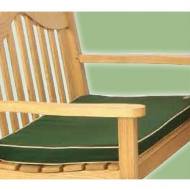 2 Seater Green Bench Pad Cushion