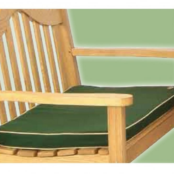 Lifestyle 3 Seater Green Bench Pad Cushion