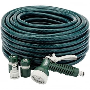 30M Green Hose Pipe & Sprayer Starter Kit