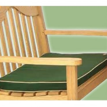 4 Seater Green Bench Pad Cushion