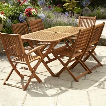 6 Seater Acacia Wooden Dining Set