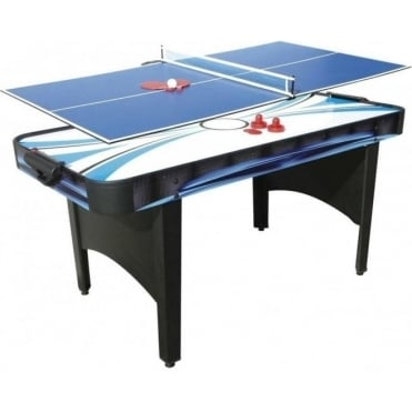 6ft Typhoon 2-In-1 Air Hockey / Table Tennis Table