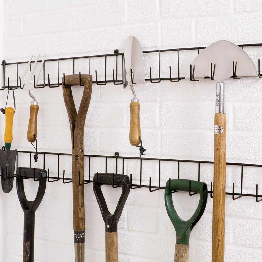 agriframes extra long double tool rack garden street. Black Bedroom Furniture Sets. Home Design Ideas