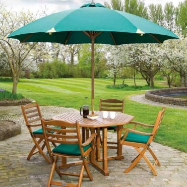 Cornis Folding Octagonal 4 Seater Dining Set