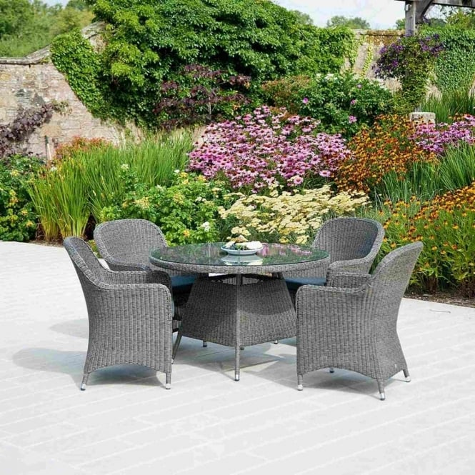 Alexander Rose Monte Carlo Closed Weave 4 Seater Dining Set