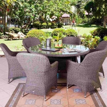 Monte Carlo Closed Weave 6 Seater Dining Set