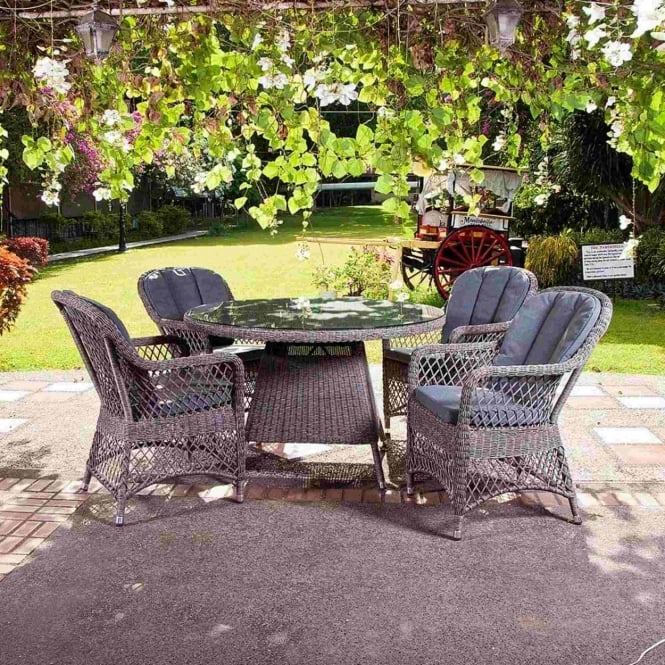 Alexander Rose Monte Carlo Open Weave 4 Seater Dining Set