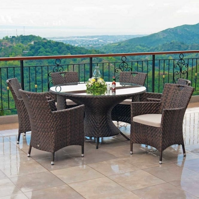Alexander Rose Ocean Round 6 Seater Dining Set