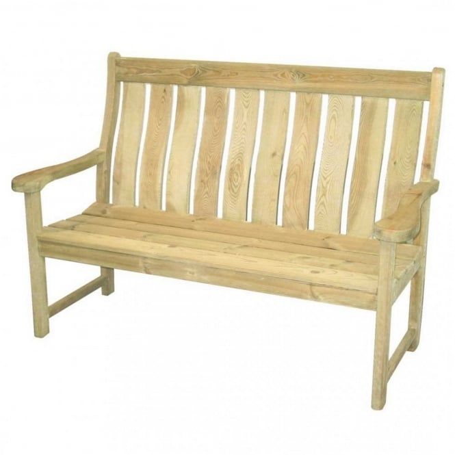 Alexander Rose Pine Farmers High Back Bench 5ft