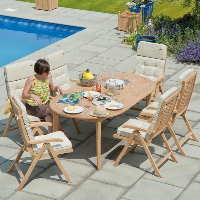 Alexander Rose Roble Ascot Extending Oval 6 Seater Dining Set