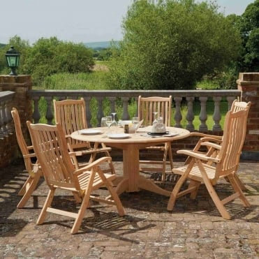 Roble Ascot Round 6 Seater Dining Set