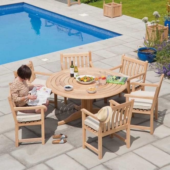 Alexander Rose Roble Broadfield 1.45m Round 6 Seater Dining Set