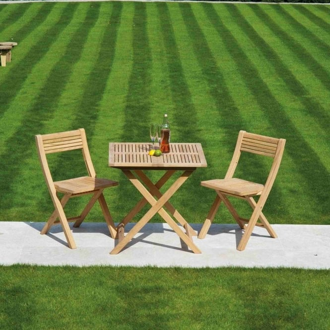 Alexander Rose Roble Tea For Two Folding Bistro Set
