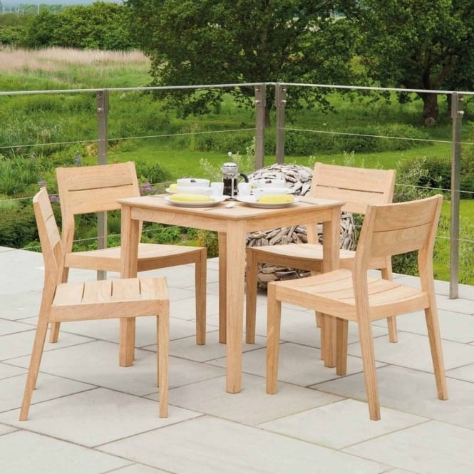 Alexander Rose Roble Tivoli Square 4 Seater Dining Set