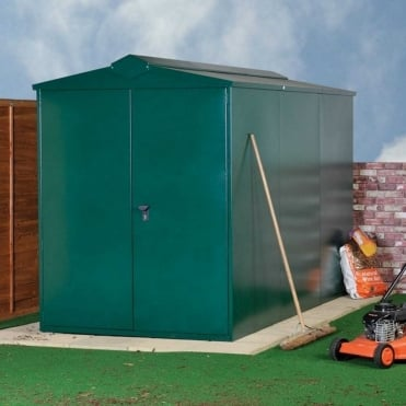 Centurion P2 Metal Shed 5X14 - Police Approved
