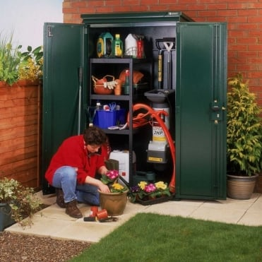 Compact Metal Tool Shed - Police Approved