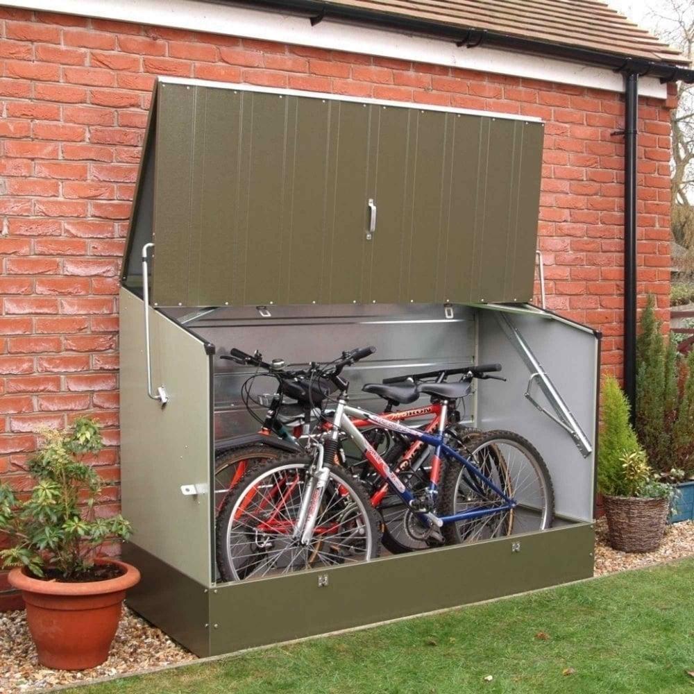 6'4x2'9 Trimetals Metal Bike Shed - Anthracite