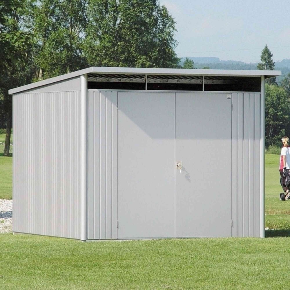 Biohort avantgarde extra large metal pent shed 8x10 for Garden shed large