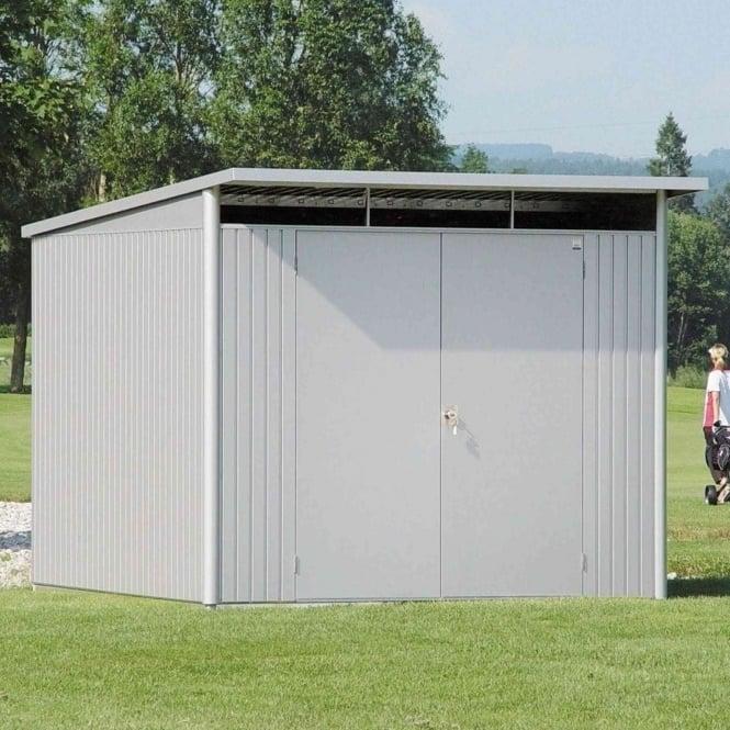 Biohort avantgarde extra large metal pent shed 8x10 for Extra large metal sheds