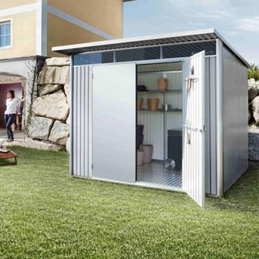 Avantgarde Large Metal Pent Shed 8X7