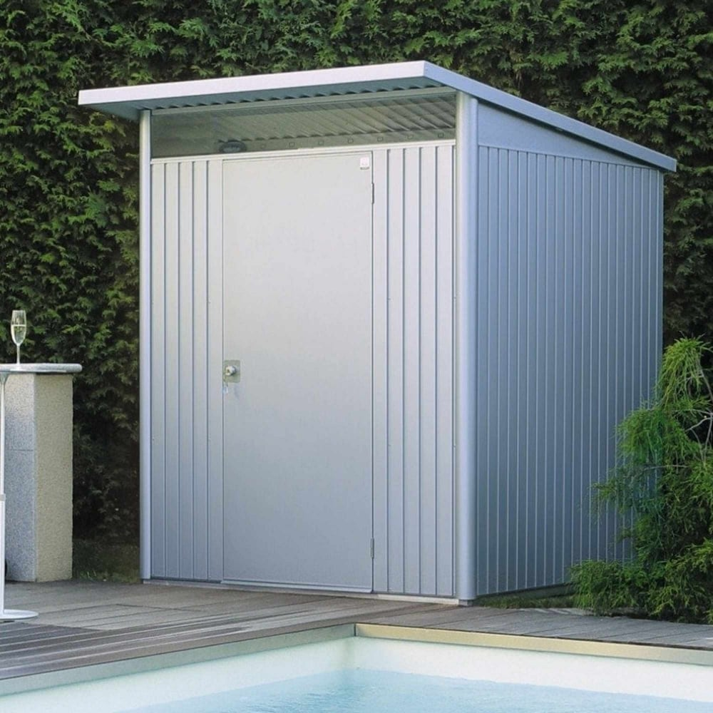 avantgarde medium metal pent shed 6x7