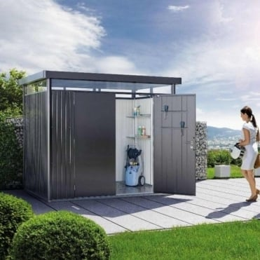 Highline H2 Metal Pent Shed 8X6