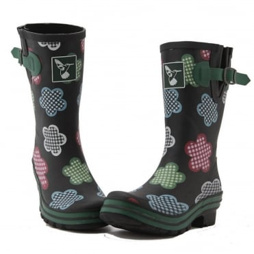 Black Gingham Short Wellies