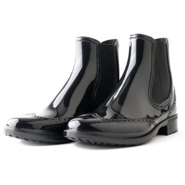Black Rum PVC Ankle Wellies