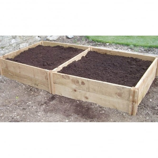 Original organics blackdown deep double raised bed garden street for How deep should a raised vegetable garden be