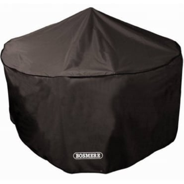 Storm Black 4 Seat Circular Patio Set Cover