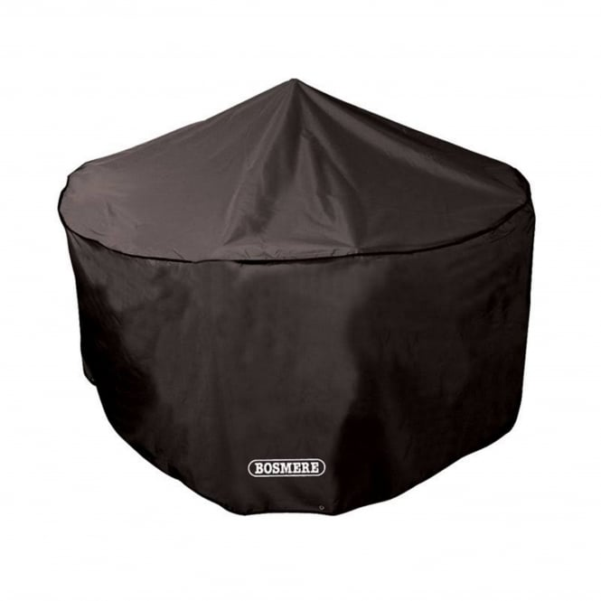 Bosmere Storm Black 6-8 Seat Circular Patio Set Cover