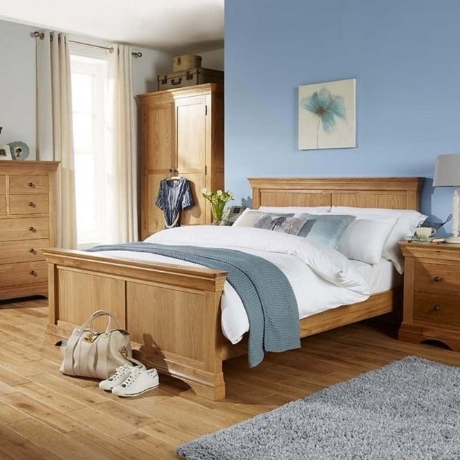 Rowlinson At Home Breton Solid Oak 5' Kingsize Double Bed