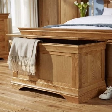 Breton Solid Oak Blanket Box