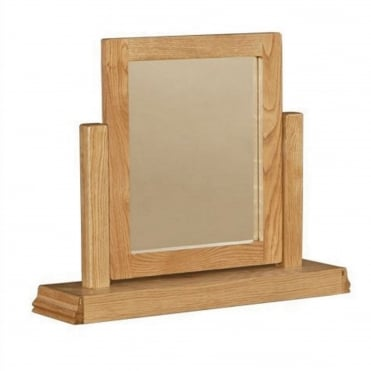 Breton Solid Oak Dressing Table Mirror