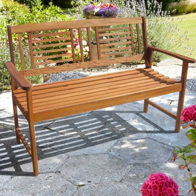 Brundle 2 Seater Acacia Wooden Bench