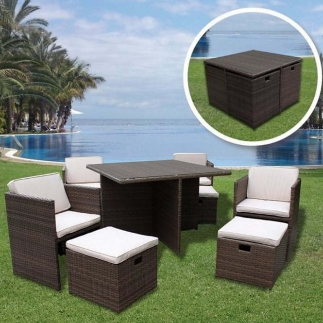 Brundle 8 Seater Cube Set