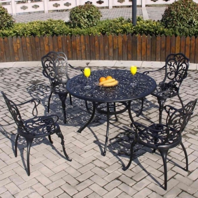 Brundle Aluminium 4 Seater Dining Set