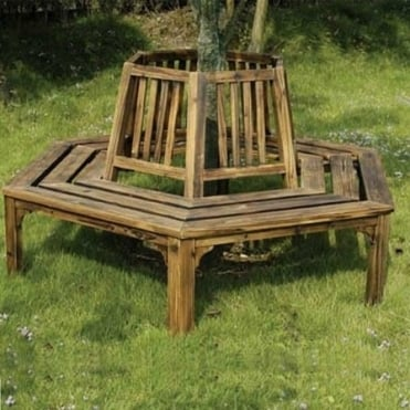 Burntwood Half Round Tree Seat