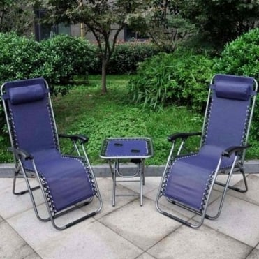 Anti-Gravity Reclining Chair and Table Set