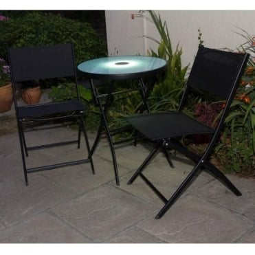Illuminated Textilene Bistro Set