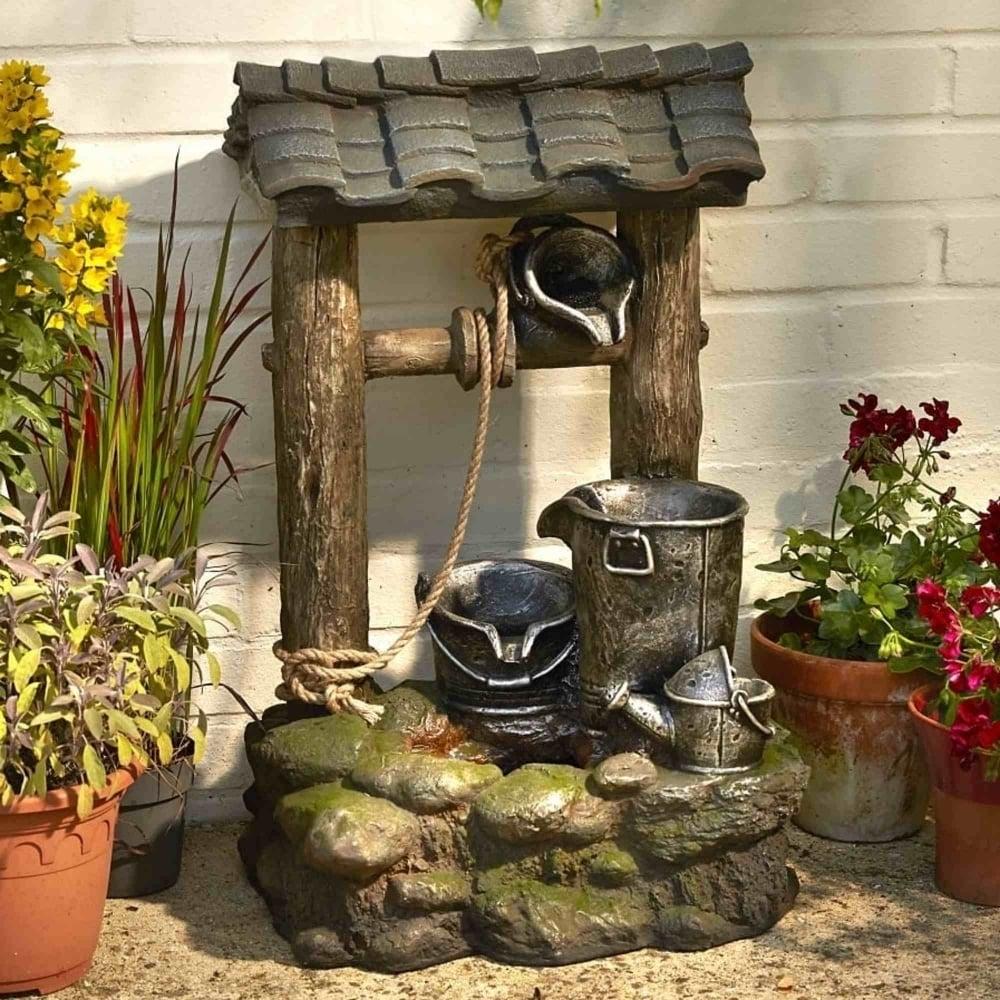Brundle Gardener Large Wishing Well Water Feature Garden