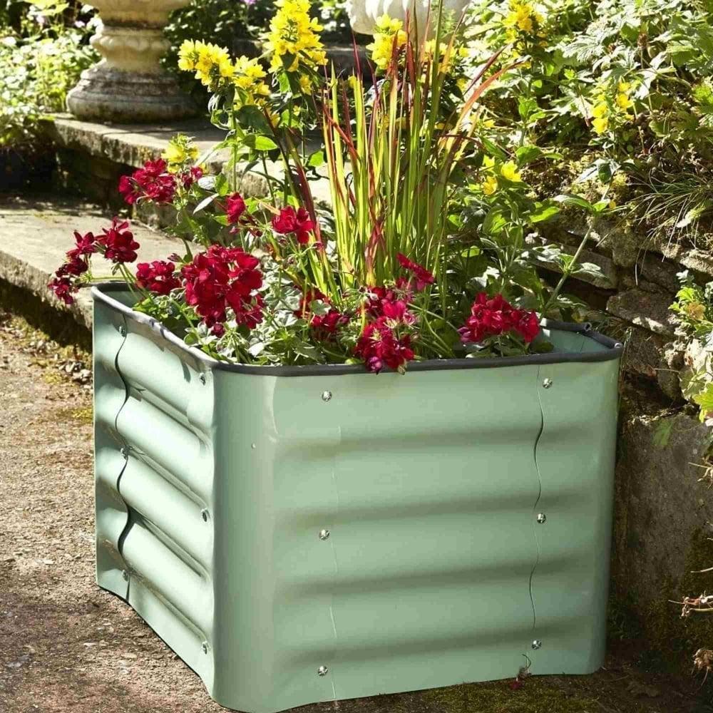Brundle Gardener Metal Box Planter Garden Street