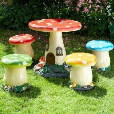 Mushroom/Toadstool Furniture Set