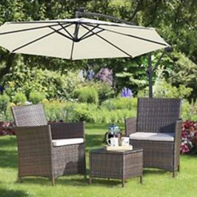 Brundle Rattan Coffee Bistro Set