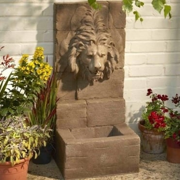 Sand Stone Lion Water Feature