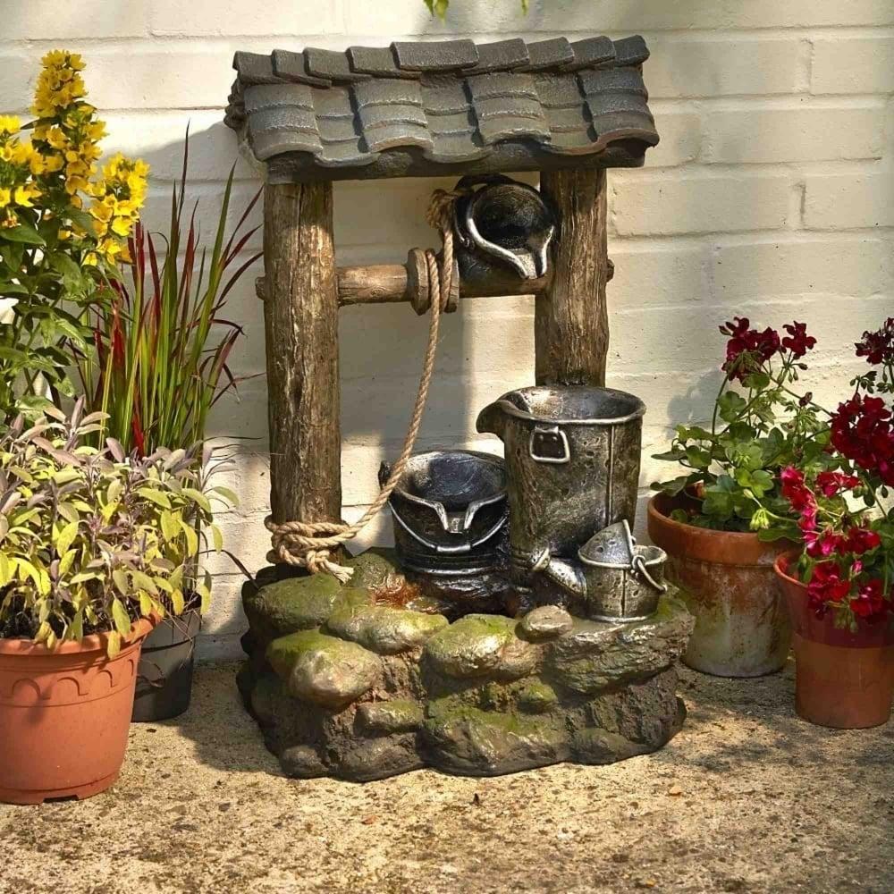 Brundle Gardener Small Wishing Well Water Feature Garden
