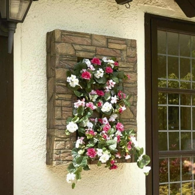 Brundle Stone Effect Wall Planter