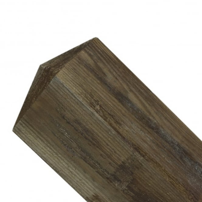 Burbage 100mm sq. Pyramid Top Wooden Post 2.4m
