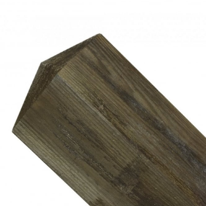 Burbage 150mm sq. Pyramid Top Wooden Post 2.4m