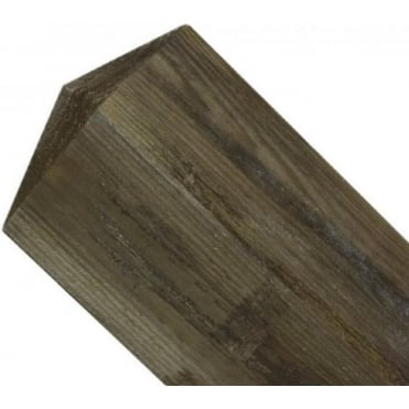 150mm sq. Pyramid Top Wooden Post 2.4m